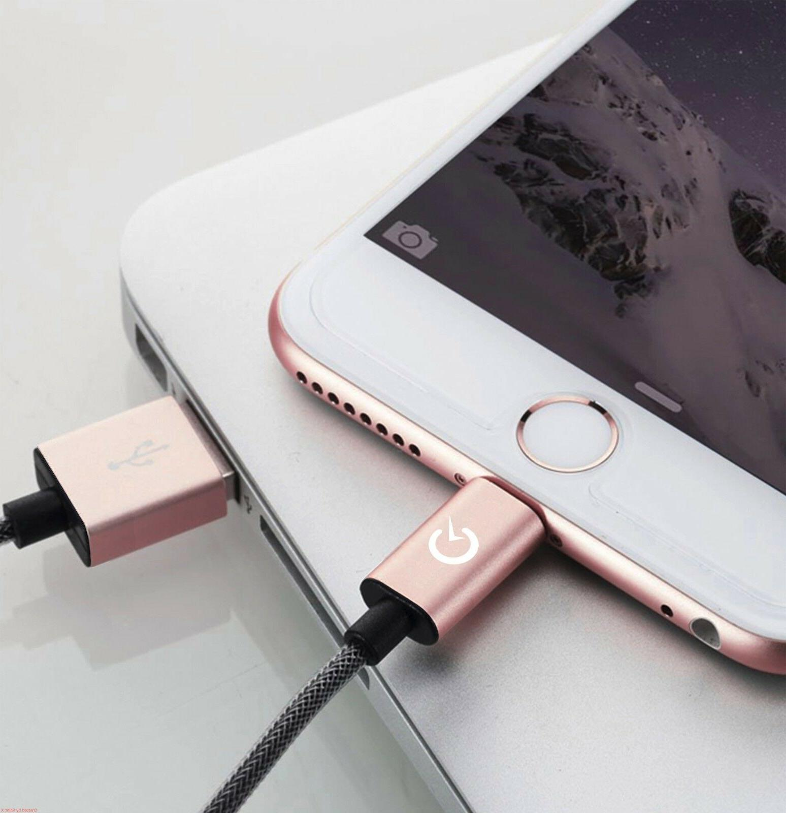 Lightning Cable 3/6/10FT Certified Charger Cord Apple iPhone Plus 8