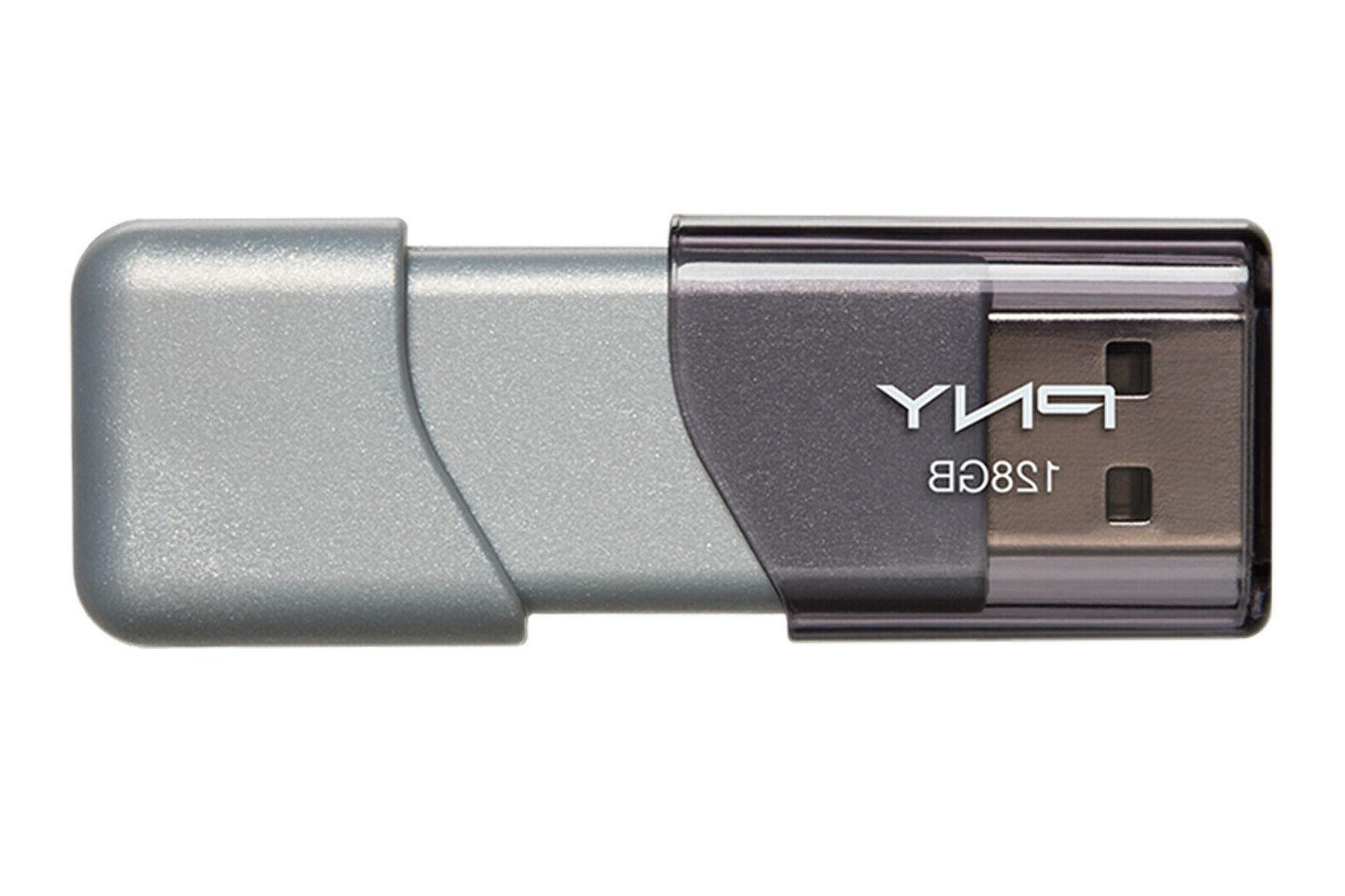 PNY Turbo 128GB USB 3.0 Flash Drive - P-FD128GTBOP-GE