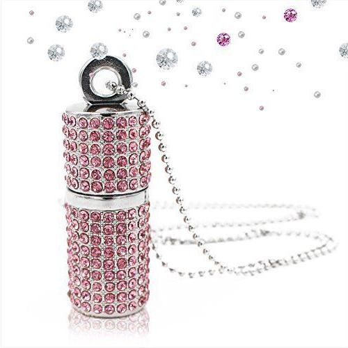 Techkey USB Flash Drive,Bling Rhinestone Diamond Crystal Gli