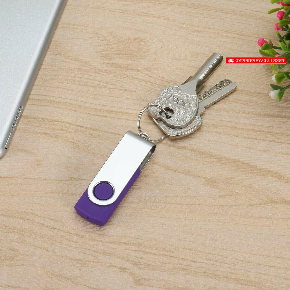Enfain 8GB Flash Drives 10 Pack in a Compact