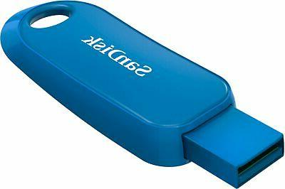 SanDisk - USB 2.0 with Encryption Blue