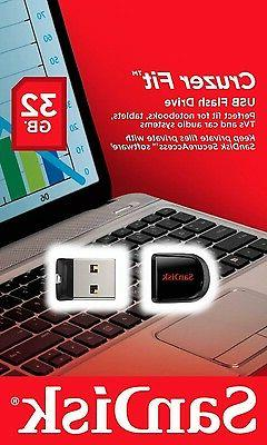 New Sandisk Cruzer Fit 32gb USB Flash Pen Drive Sdcz33 Cz33