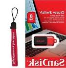 SanDisk 8GB Cruzer Switch USB 2.0 SD CZ52 8G USB FLASH DRIVE