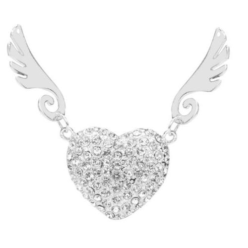 Crystal Heart Necklace 2.0 Drive Angel Wings 8GB