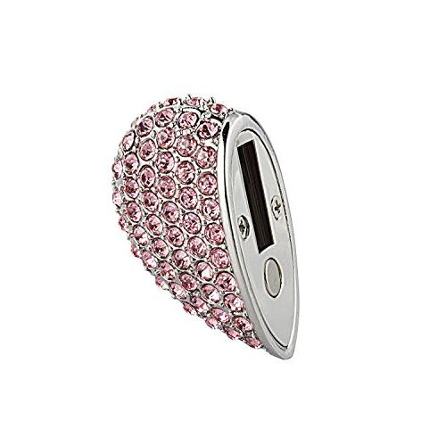 WooTeck 32GB Crystal Heart Jewelry Flash Necklace,Pink