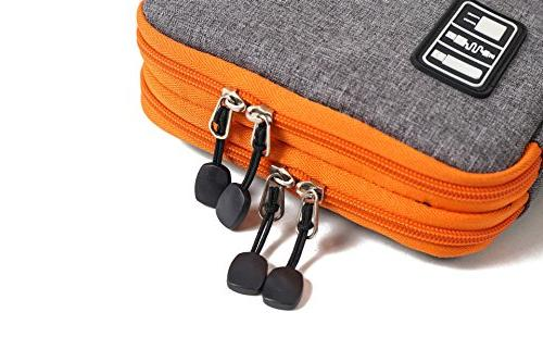 Travel Double Layer Organizer Accessories Bag.100 binding wire