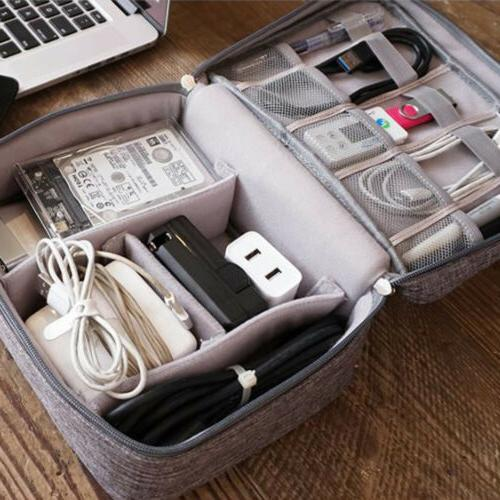 electronic accessories cable usb drive organizer case