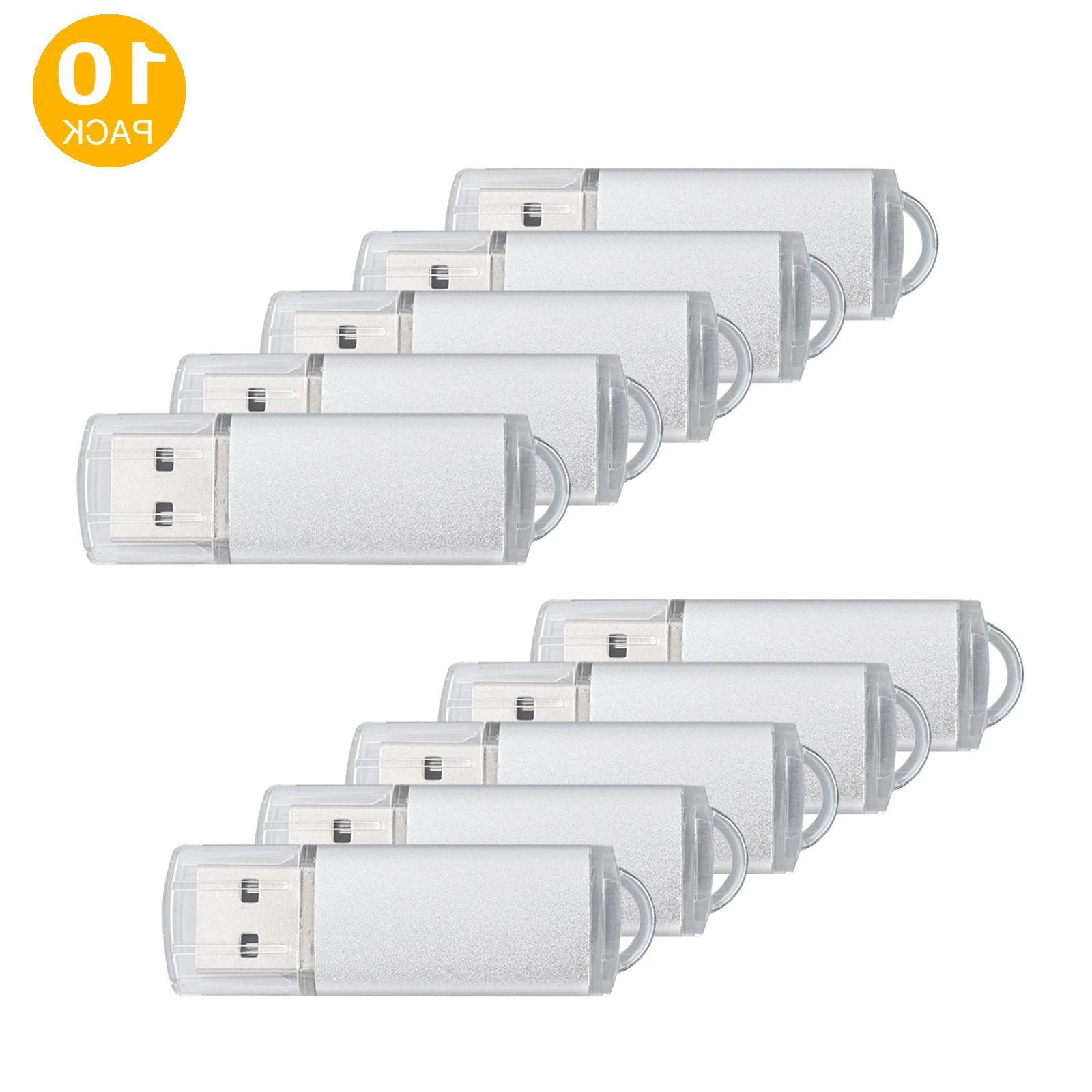 10 Pack 4GB Flash Memory Stick USB 2.0 Flash Drive High Spee