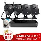 Zmodo 4CH NVR 4 720p HD Wireless IP Network Home Security Ca