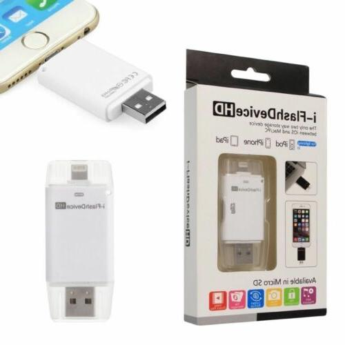USB i-Flash Drive HD Micro SD/TF Memory Card Reader Adapter