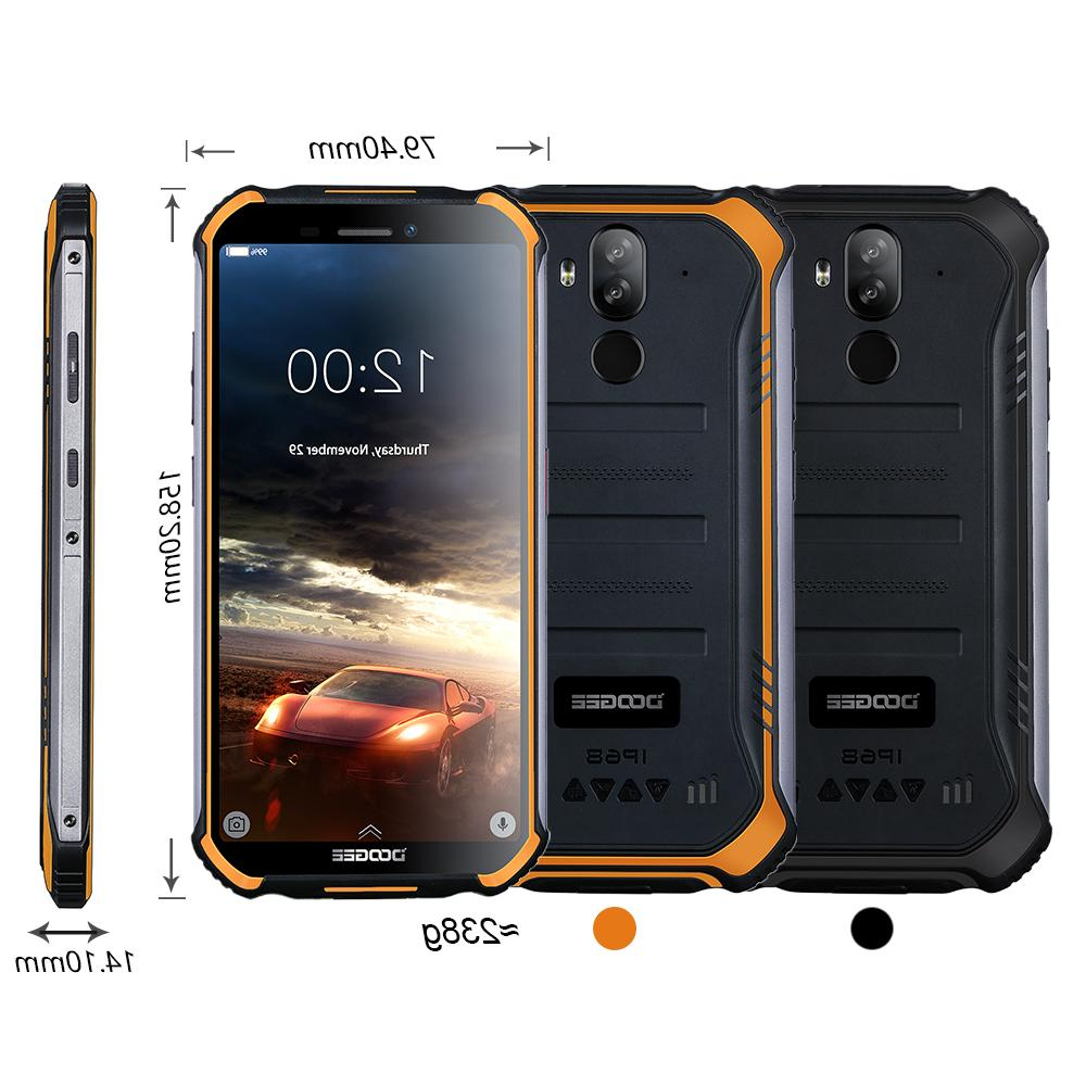 IP68 S40 Rugged Phone 5.5inch Fingerprint Core 2GB 16GB Android