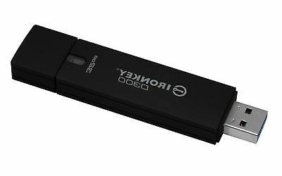 IronKey 32GB D300 Standard USB 3.0 Flash Drive - 32 GB - USB