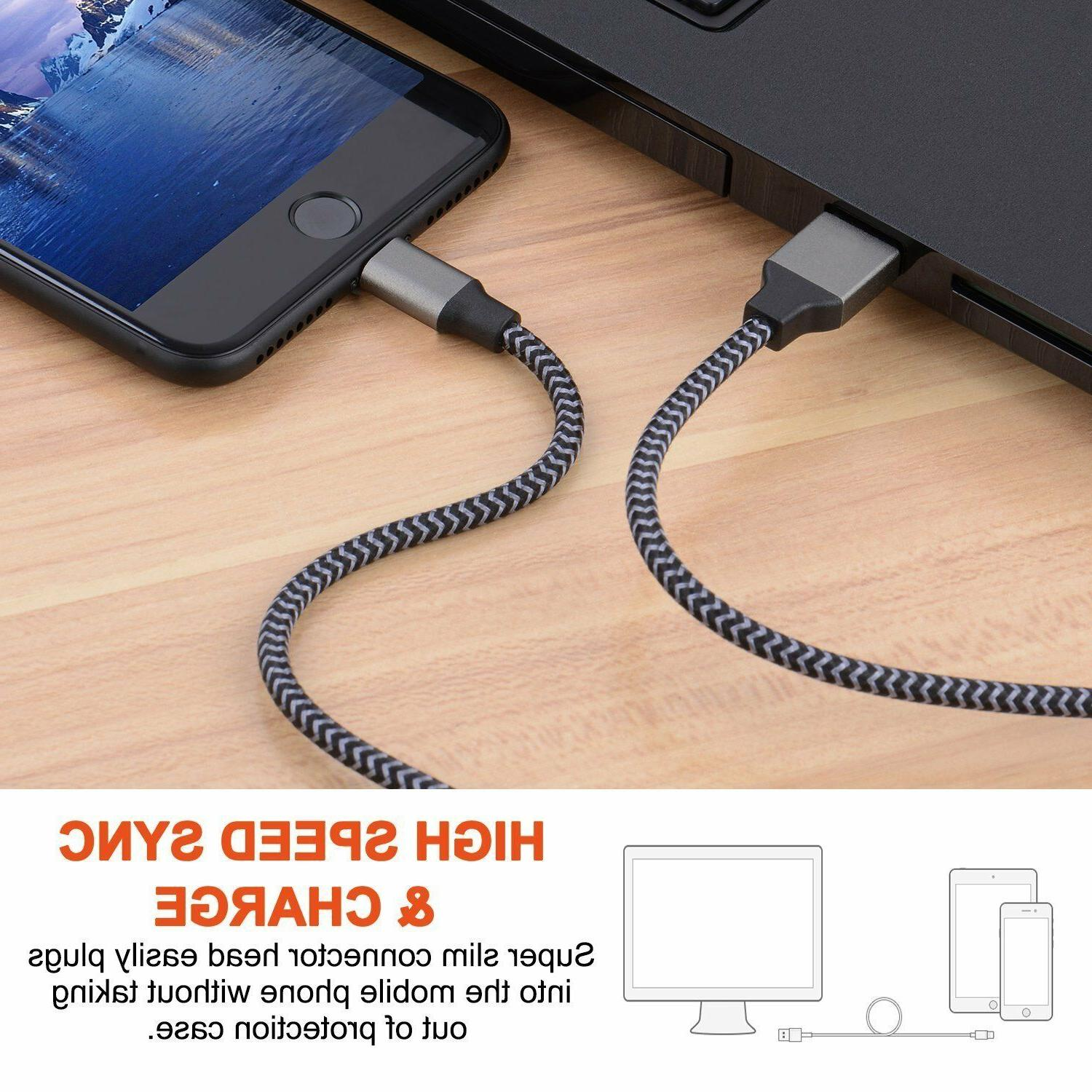 Lightning Cable Heavy Duty Iphone 8 7 6 plus Charging