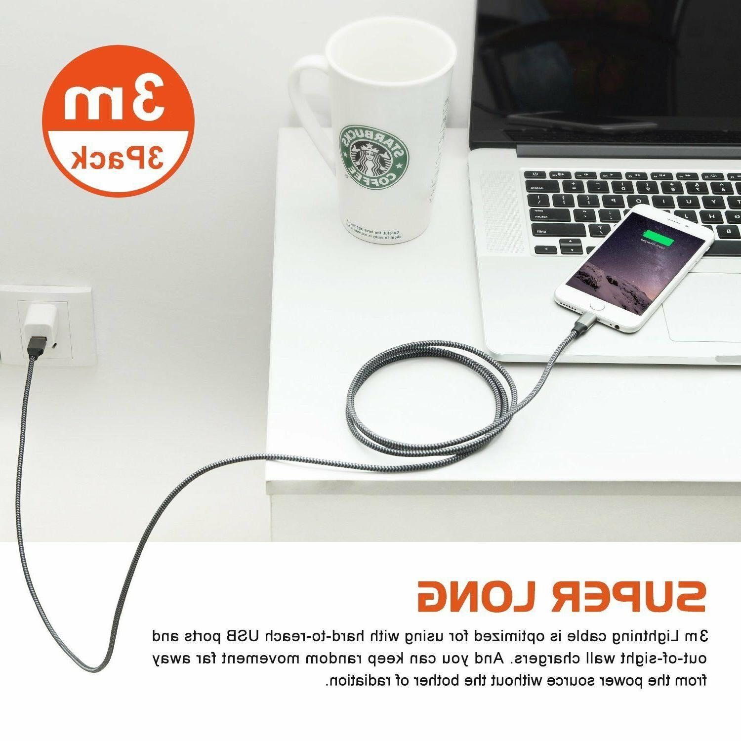 3 Pack Lightning Cable Duty Iphone plus Charger