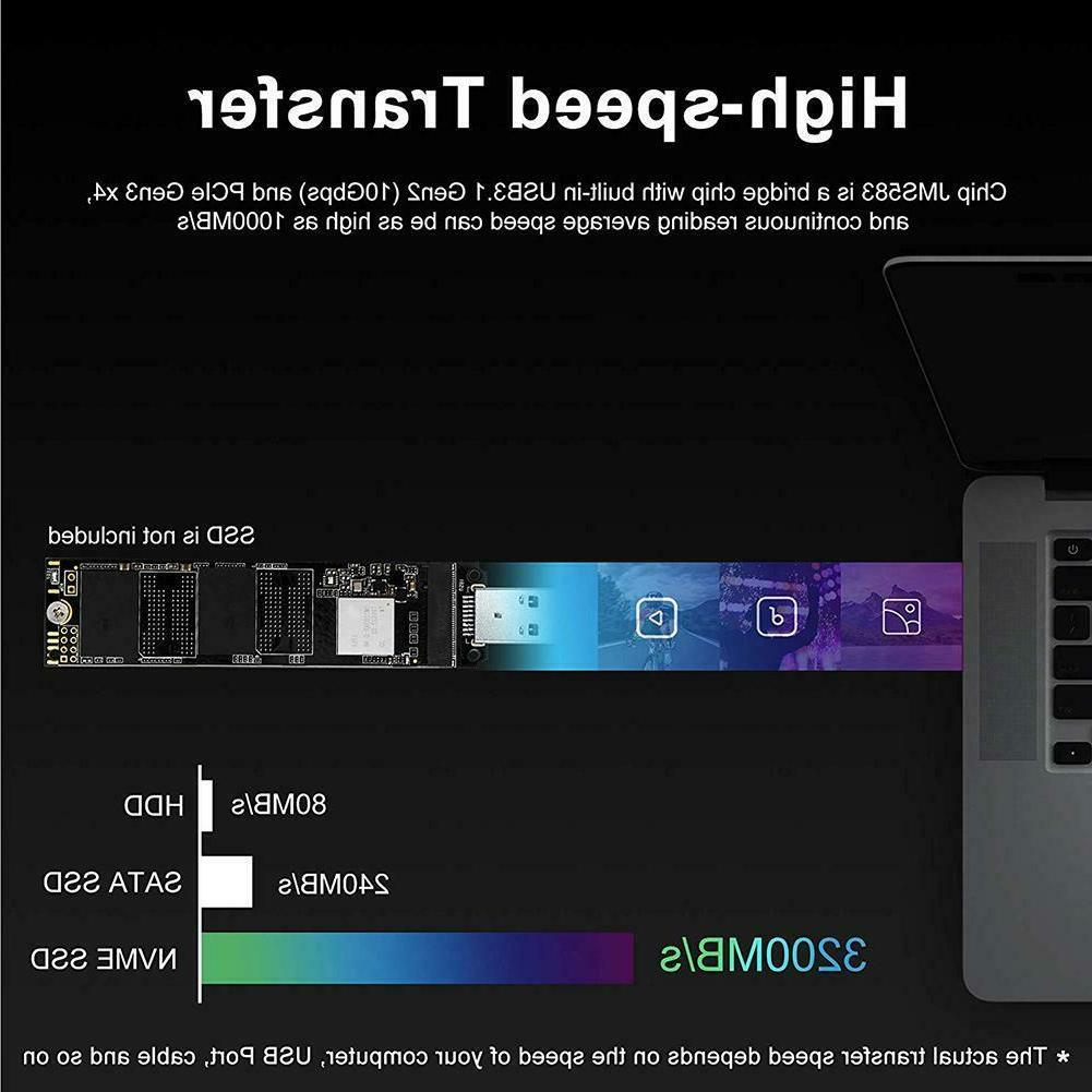 M.2 SSD to USB to USB-A Solid Drive Internal