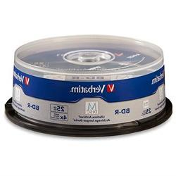 Verbatim M-Disc BD-R 25GB 4X with Branded Surface - 25pk Spi