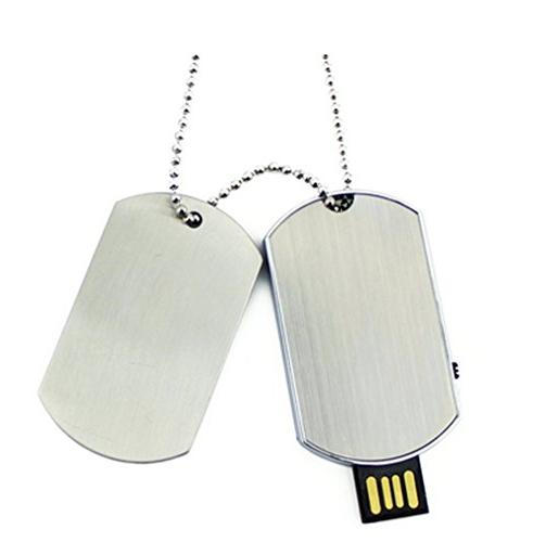 metal pendrive dog tag necklace