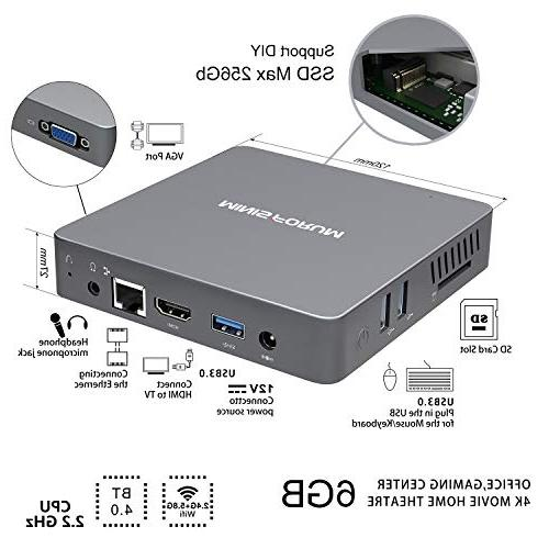 N34 6GB+64GB, Apollo Celeron 500 2.4G+5.8G WiFi/BT 4.0/ SSD/HDMI&VGA