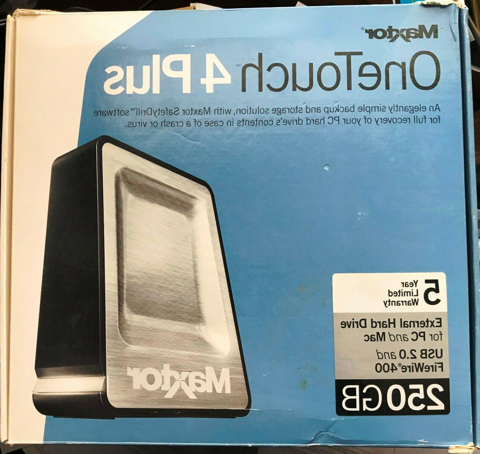 one touch 4 plus 250 gb external