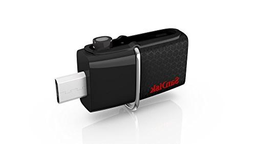 SanDisk 64GB OTG USB 3.0 130MB/s Ultra Dual microUSB fit Samsung Android +Lanyard