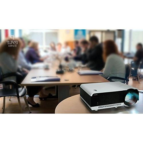 Pyle Projector with 1080p Built-In Speakers Flash