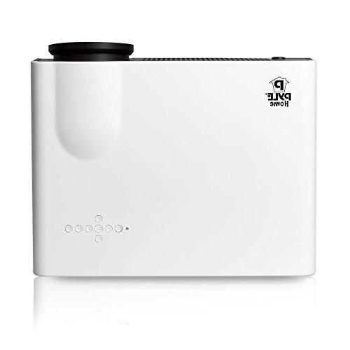 Pyle PRJLE82H HD Projector Built-In and USB Flash Drive Memory Reader