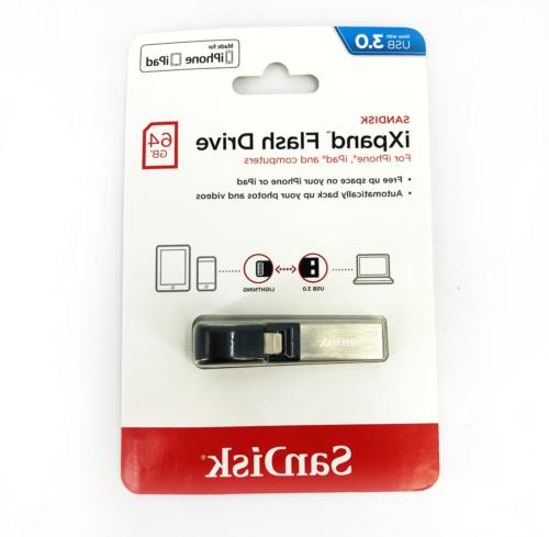 sandisk ixpand usb flash drive 64 gb