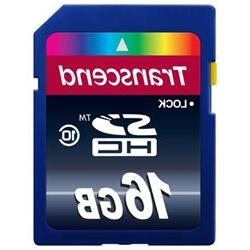 Transcend 16GB SDHC Class 10 Flash Memory Card Up to 30MB/s