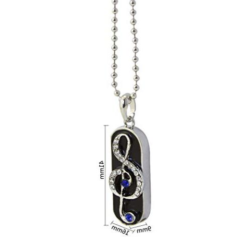 Shiny Diamond Flash 32GB, Musical Note Jewelry Drive 2.0 Necklace