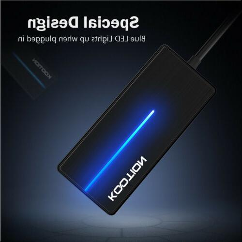 Kootion Slim 4-USB Ports Type-A Cable With For Laptop