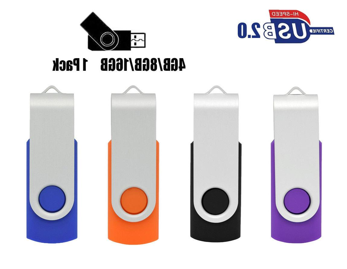 OVANUS USB 2.0 Flash Drive Memory Stick Keychain 16GB 8GB 4G
