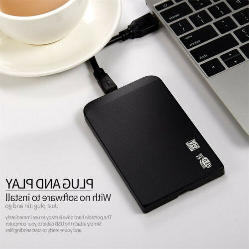 2TB Portable External Hard Drive Disk HDD USB 3.0 2.5'' for