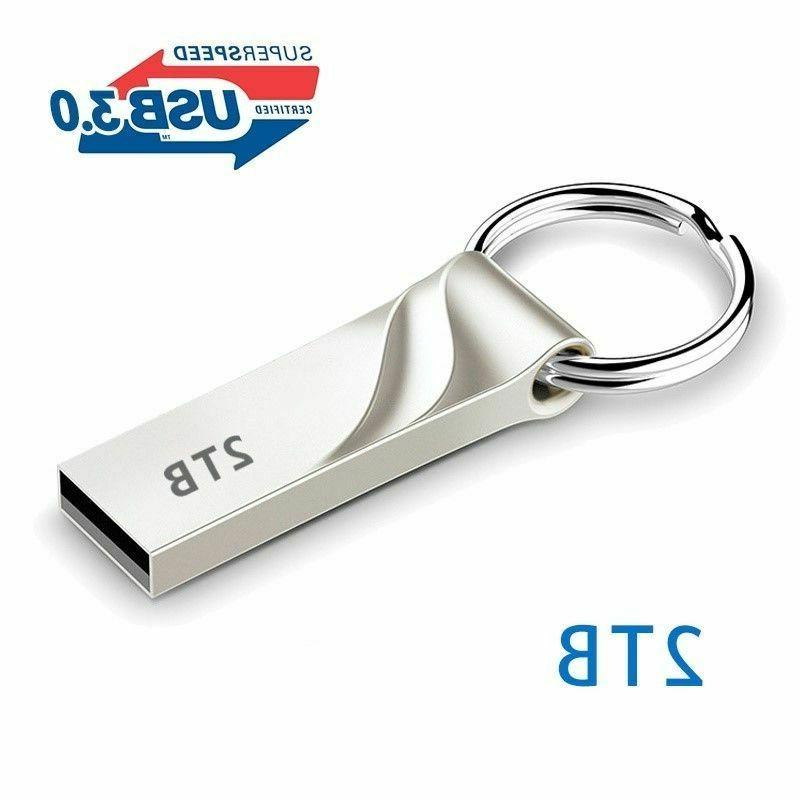2TB Flash Drive USB 3.0 Memory Stick Pendrive Disk Metal Key