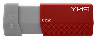 PNY USB 3.0 Drive, Assorted Colors, P-FD32GELEDG