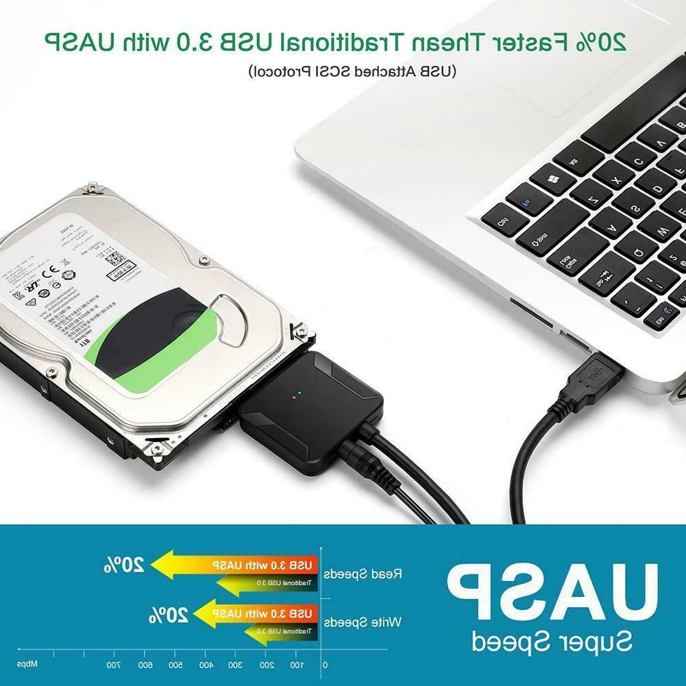 USB 3.0 SATA Cable HDD Ssd Hard Drive for Windows