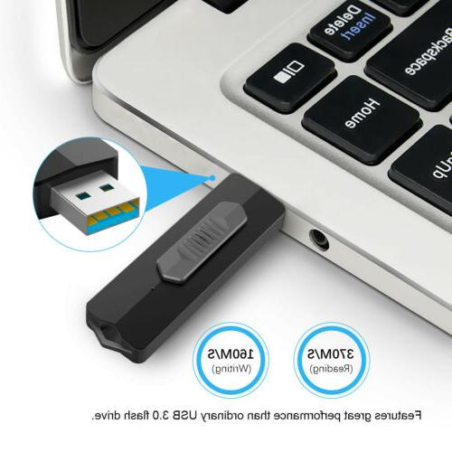 USB 3.1 128GB Key Capless Retractable Design Fast Drives