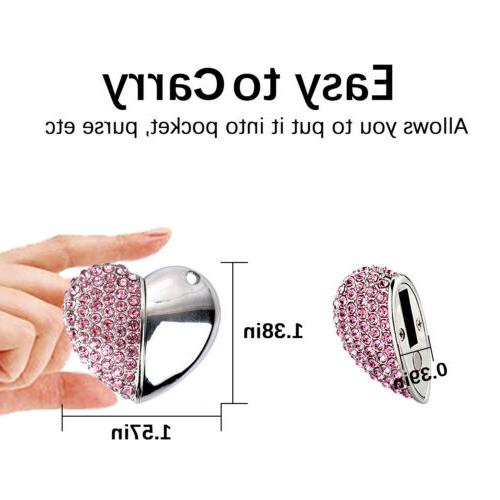 USB Drive Crystal Heart