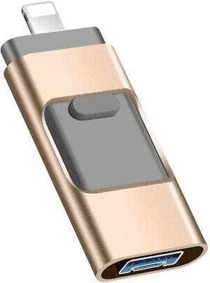 US 64GB USB Flash Drive Memory Stick HD U Disk 3 in 1 for An