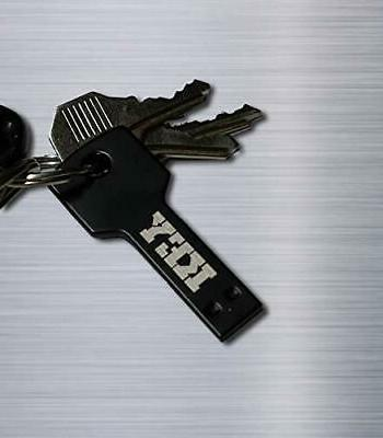 USB Flash Drive Keychain 32GB Black Friendly, USB 2.0,