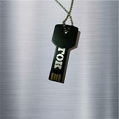 usb flash drive necklace keychain 32gb black