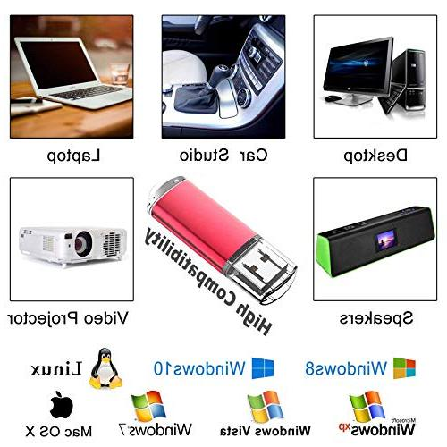 KOOTION 10PCS 1GB Pack USB Flash Drives Memory Stick Pen Drive,