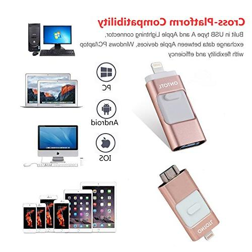 USB iPhone/iOS 128GB Jump USB 3.0 USB Flash Memory Stick Compatible iPad, Android PC