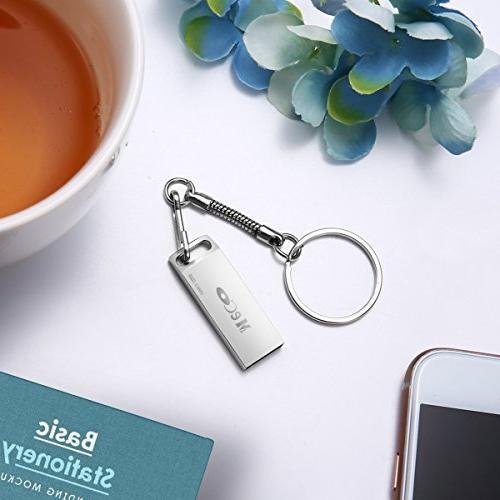 32GB Drive, MECO Thumb USB2.0 Keychain Metal Memory Laptops PC Gift