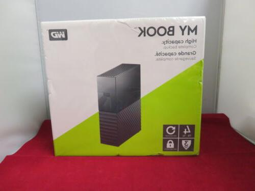 WD My Book 4TB USB 3.0 desktop hard drive with password prot