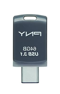 PNY 64GB Duo-Link Type-C & Type-A Dual OTG USB 3.1 Flash Dri