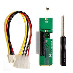 MintCell M.2 M  Key NGFF to PCI-E  4x Adapter With 4 Pin MOL