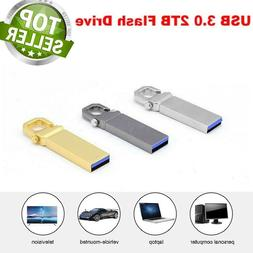 Metal USB 3.0 2TB Flash Drive Memory Stick Pen U Disk Swivel