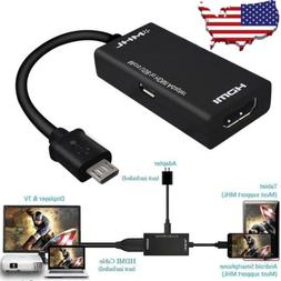 MHL Micro USB 2.0 To HDMI HDTV Adapter Cable for Samsung Gal