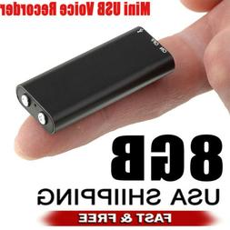 Mini Spy Audio Recorder Voice Listening Device 96 Hours 8GB