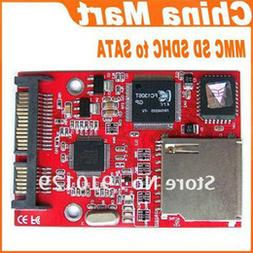 MMC SD SDHC MMC to SATA Secure Digital Converter Adapter Fre